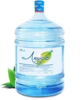 Питьевая вода высшей категории «Люкс», объем 19 литров